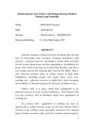 i Desain Interior Java Fitness club Dengan Konsep ... - Digilib ITS