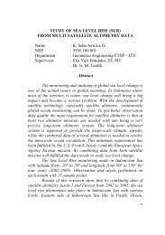 v STUDY OF SEA LEVEL RISE (SLR) FROM MULTI ... - Digilib ITS
