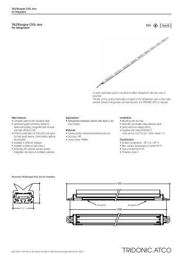 Uengine COOL door for Integration - Tridonic