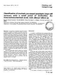 Classification of routinely processed anaplastic large cell ... - Digitum