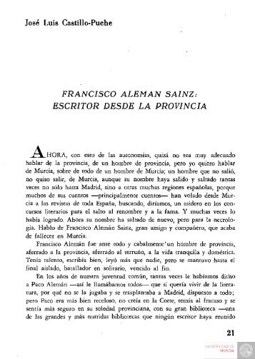 05 vol75 Francisco Aleman Sainz. Escritor desde la ... - Digitum