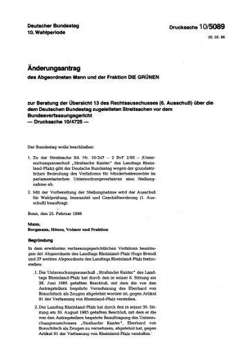 Änderungsantrag - Deutscher Bundestag