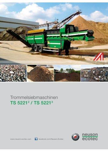 Trommelsiebmaschinen TS 52212 / TS 52213 - Neuson Ecotec GmbH