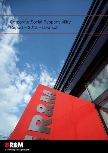 CSR Report 2012 - R&M