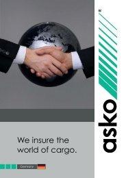 We insure the world of cargo. - Asko Assekuranzmakler GmbH