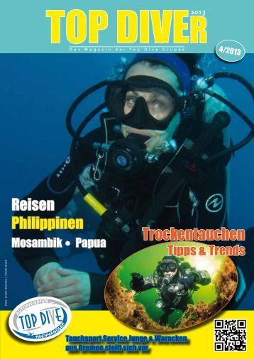 Das neue Magazin der TOP-DIVE Gruppe, hier als Leseprobe online