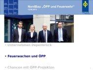 """NordBau """"ÖPP und Feuerwehr"""" Unternehmen Depenbrock Feuerwachen und ..."""