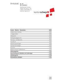 Amtsblatt Nr. 30 vom 26. Juli 2013 (262 KB), S. 1681 - Kanton Schwyz