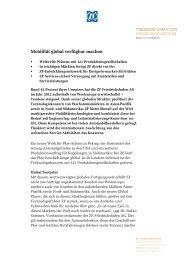 Mobilität global verfügbar machen - ZF Friedrichshafen AG