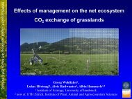 Effects of management on the net ecosystem CO2 exchange of ...