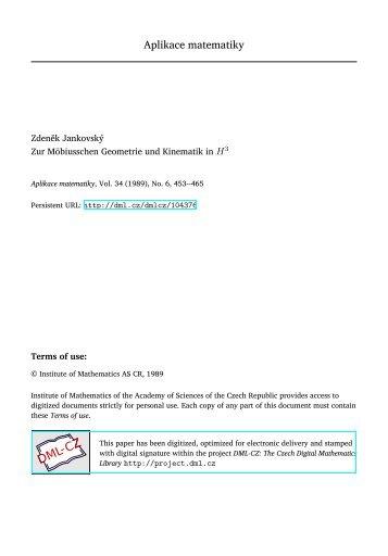 Zur Möbiusschen Geometrie und Kinematik in $ H^ 3$