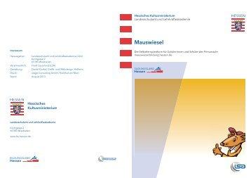 Flyer Mauswiesel - Bildungsserver Hessen