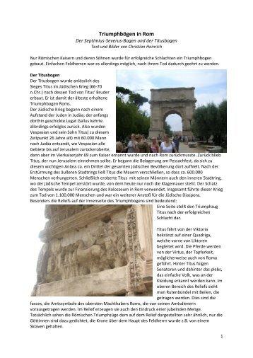 Triumphbögen in Rom