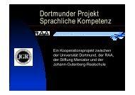 Dortmunder Projekt Sprachliche Kompetenz