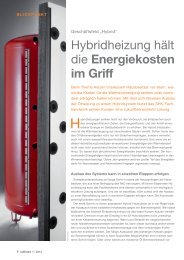 Hybridheizung hält die Energiekosten im Griff - IWO
