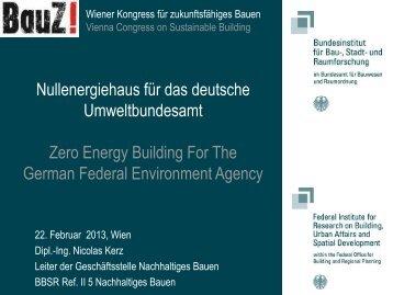 Nullenergiehaus für das deutsche Umweltbundesamt - IBO