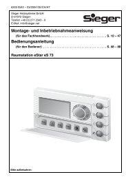 Montage- und Inbetriebnahmeanweisung Bedienungsanleitung