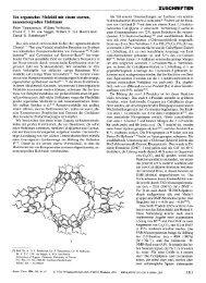 Ein organisches Molekül mit einem starren, nanometergroßen ...