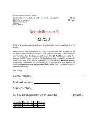 Beispielklausur B MPGI 3