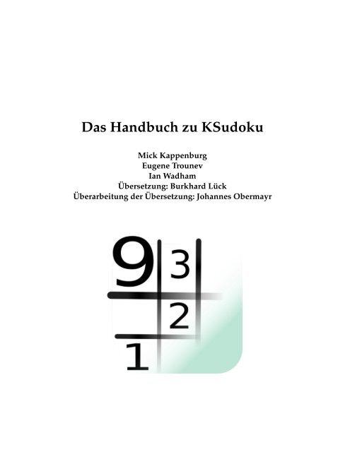 Das Handbuch zu KSudoku - KDE Documentation