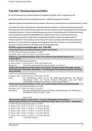 Fakultät I Geisteswissenschaften - Index of