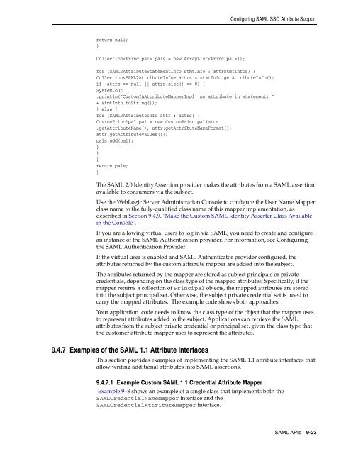 Configuring SAML SSO Attr