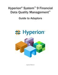 Hyperion® System™ 9 Financial Data Quality Management - Oracle ...