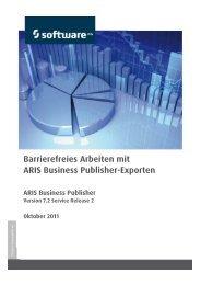 Barrierefreies Arbeiten mit ARIS Business Publisher-Exporten