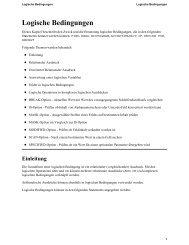 Logische Bedingungen - Software AG Documentation