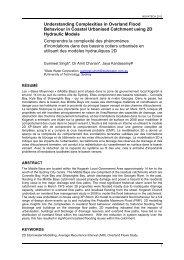 Understanding Complexities in Overland Flood Behaviour in ...