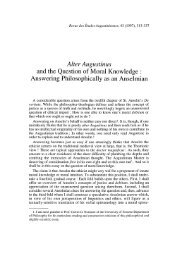 Alter Augustinus and the Question of Moral Knowledge : Answering ...