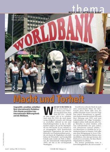 MEHR WELT,WENIGER BANK