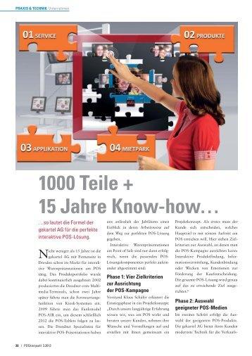 1000 Teile + 15 Jahre Know-how… - gekartel AG
