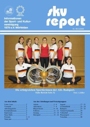 Die erfolgreichen Sportlerinnen der Abt. Radsport. - SKV Mörfelden