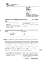 1 Termine und Hinweise zum Jahresende 2013 - Kanzlei Pulch