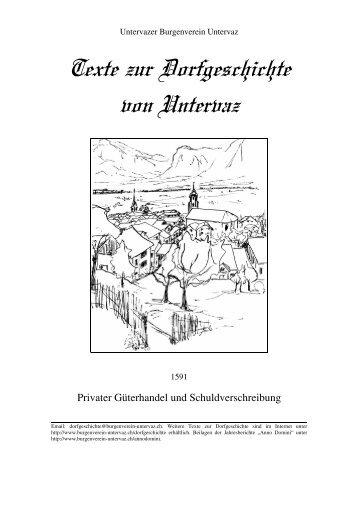 1591-Privater Güterhandel und Schuldverschreibung