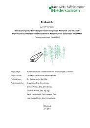Untersuchungen zur Bewertung der Auswirkungen von ... - BLE