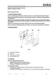 1 Sicherheitshinweise 2 Geräteaufbau 3 Funktion - Download - Gira