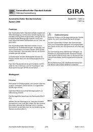 Automatikschalter Standard-Aufsatz ... - Download - Gira