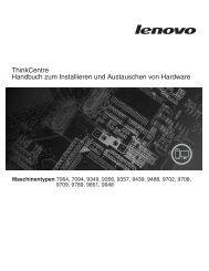 Handbuch zum Installieren und Austauschen von Hardware - Lenovo