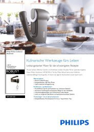 Leaflet HR1581_00 Released Germany (German) High-res ... - Philips