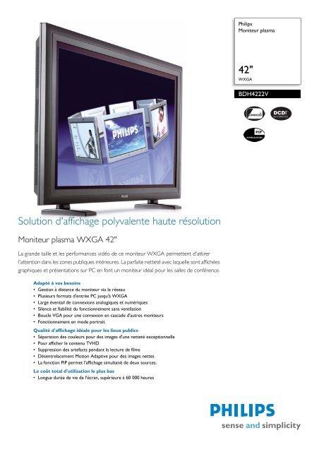 BDH4222V/00 Philips Moniteur plasma