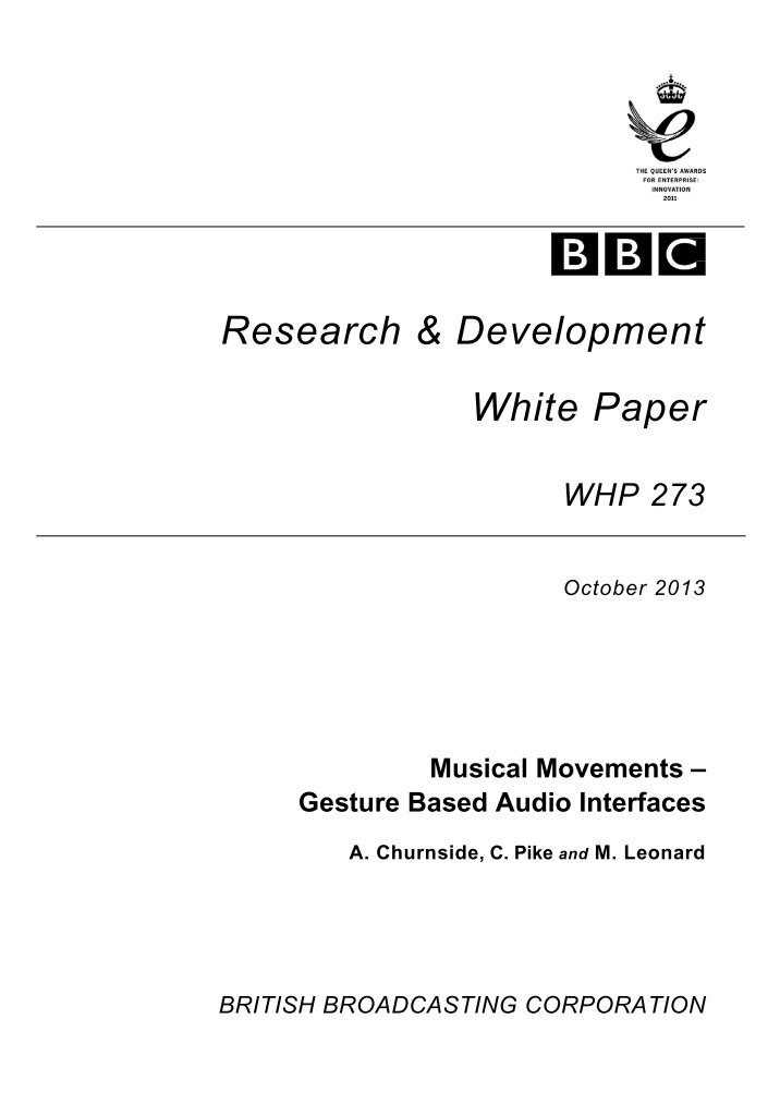 bbc research white papers Bbc research white paper whp 189 a comparison of the carbon footprint of digital terrestrial television with video-on-demand jigna chandaria 1, jeff hunter , adrian williams2.