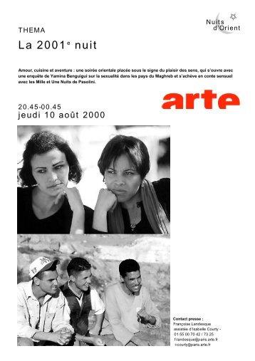 La 2001e nuit - Source - Arte