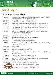 Greek Myths - BBC