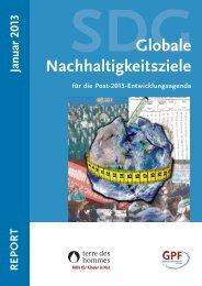 Globale Nachhaltigkeitsziele für die Post-2015-Entwicklungsagenda