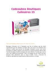 Cadeaubox Boutiques Culinaires 25 - Sales-Lentz