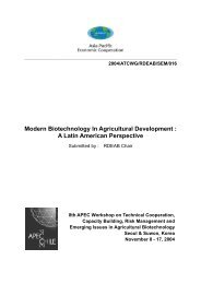 Modern Biotechnology In Agricultural Development : A Latin ...