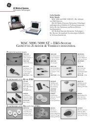 MAC 5000/5000 ST – geprüftes Zubehör & Verbrauchsmaterial