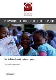 PROMOTING SCHOOL CHOICE FOR THE POOR
